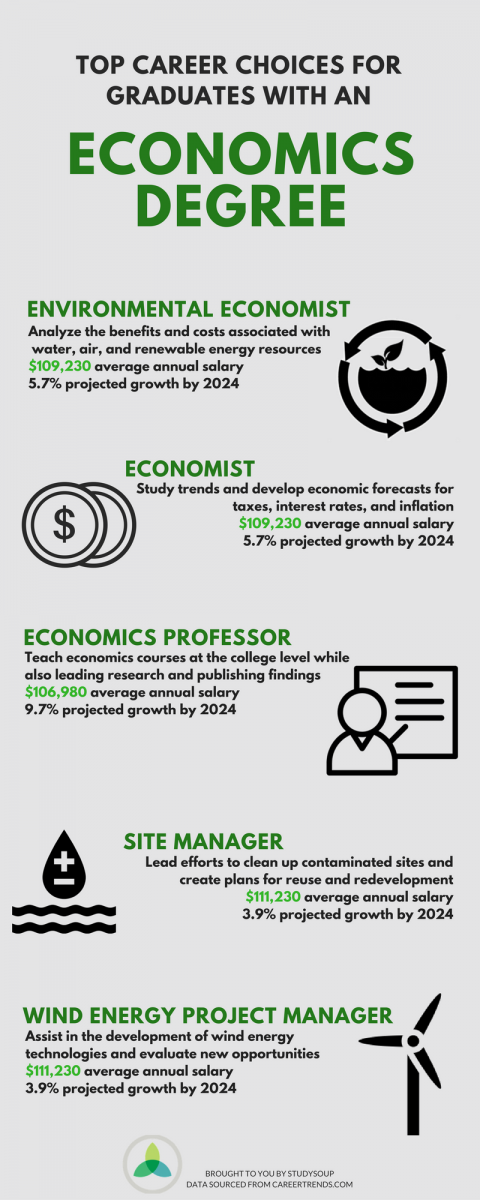 top careers for economics majors infographic