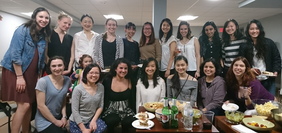 Ladies of Economics group picture at the spring 2018 dinner