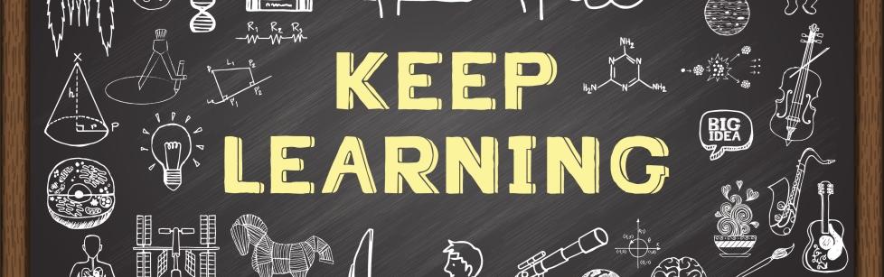 Keep Learning blackboard