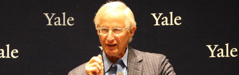 William Nordhaus addressing audiance