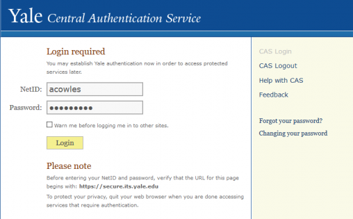CAS sign-in