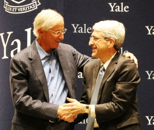 William Nordhaus with President Peter Salovay