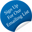 Sign-up for our email list sticker