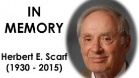 Herb E. Scarf in memory poster
