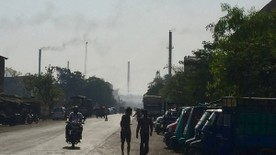 An industrial district of Surat, India, where a pilot program involving Yale researchers seeks to cut levels of harmful particulate air pollution.