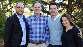 Tobin Center Leadership: David Wilkinson, Steven Berry, Zack Cooper, and Rebecca Toseland