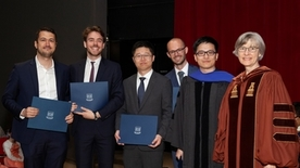 Choukhmane,Eckert,Yuan Gao ,Hubmer, Liu, and Graduate School Dean Cooley