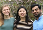 2019-20 Peer Mentors (from left to right) Lara Varela Gajewski, Jingyi Cui, and Devesh Agrawa