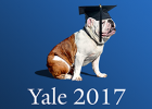 2017 commencement poster - bulldog with morter cap
