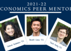 2021-22 Peer Mentors: Shaheen, Chen, and Kelly
