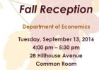 Chair's Fall Reception event poster