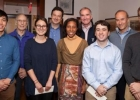 Tobin Scholars and sponsors (from left to right: Michael Wang, Bill Brainard, Anna Russo, Dirk Bergemann, Ebonya Washington, David Swensen, Greg Cameron, Steve Freidheim, Trevor Williams)