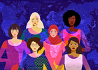Graphic of a diverse group of women from around the world